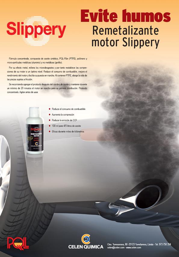 Evite humos con Slippery Remetalizante motor